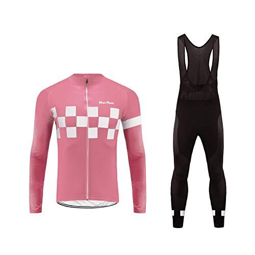 Uglyfrog Maillot de Cyclisme Set Maillot de Manches Longues + Pantalons Homme Automne/Hiver Cyclisme Vêtements Respirant Séchage Rapide