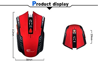 WIRELESS USB LASER MOUSE - FOR ALL PCS - Red Color