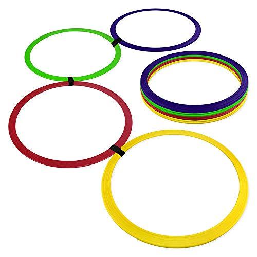 Argola de Agilidade - Kit com 12 - Azul/amarelo/vermelho/verde - Muvin
