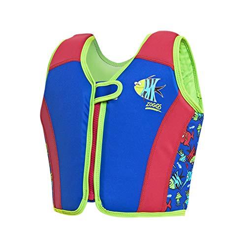Zoggs Schwimmweste für Kinder, Unisex, Blau/Rot/Grün, 4-5 Jahre/18-25 kg
