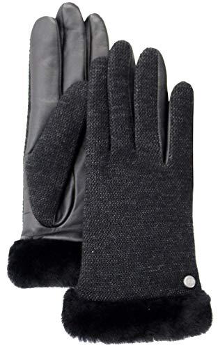 UGG W Fabric Lthr Shorty Glove black, Größe:M