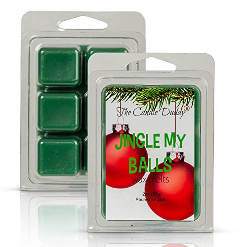 The Candle Daddy Jingle My Balls - Funny Christmas Holly Berry Scent - Maximum Scented Wax Melt Cubes - 2 Ounce- Dirty Santa Claus