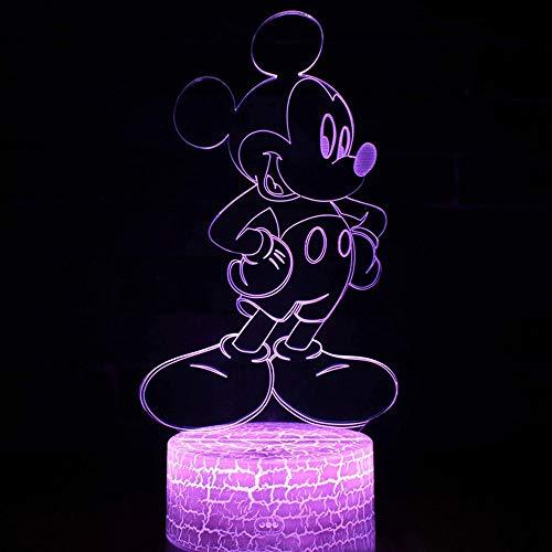 Luz de noche de hmster de anime nica luz de nen creativa luz de noche multicolor luz LED acrlico 7D base agrietada