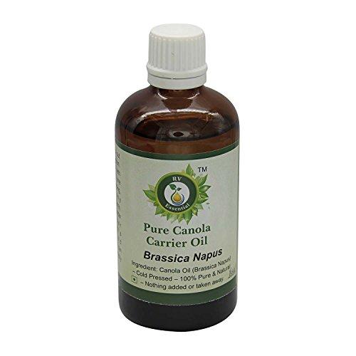 R V Essential Puro Canola Vettore Olio 10ml (0.338oz)- Brassica Napus (100% Pressato a Freddo Puro e naturale) Pure Canola Carrier Oil