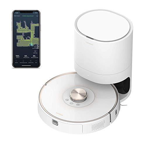 Lenovo Robot Vacuum Cleaner T1 PRO avec station d'aspiration en blanc (T1 Pro Bundle)