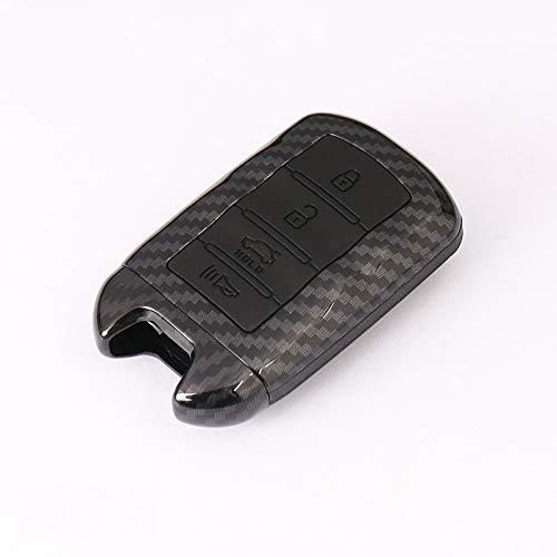 para KIA K9 Cadenza K7, Fibra de Carbono ABS Cubierta de la Caja de la Llave del Coche Soporte de la Carcasa de la Llave 3/4 botón Llave remota Inteligente