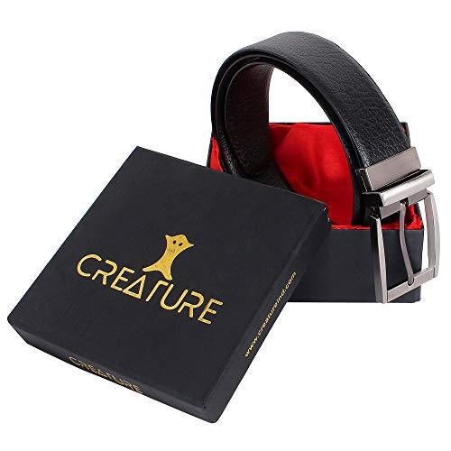 CREATURE Men's Genuine Leather Black & Brown Reversible Belt