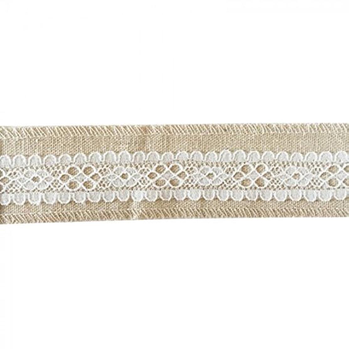 Vaessen Creative Sewing Ribbon, Fabric, White/Ecru, One Size
