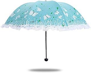 BEESCLOVER Paradise Umbrella Umbrella Genuine Monopoly UV Sunscreen Sunshade Umbrella Umbrella Lace Princess Lady Pink One Size
