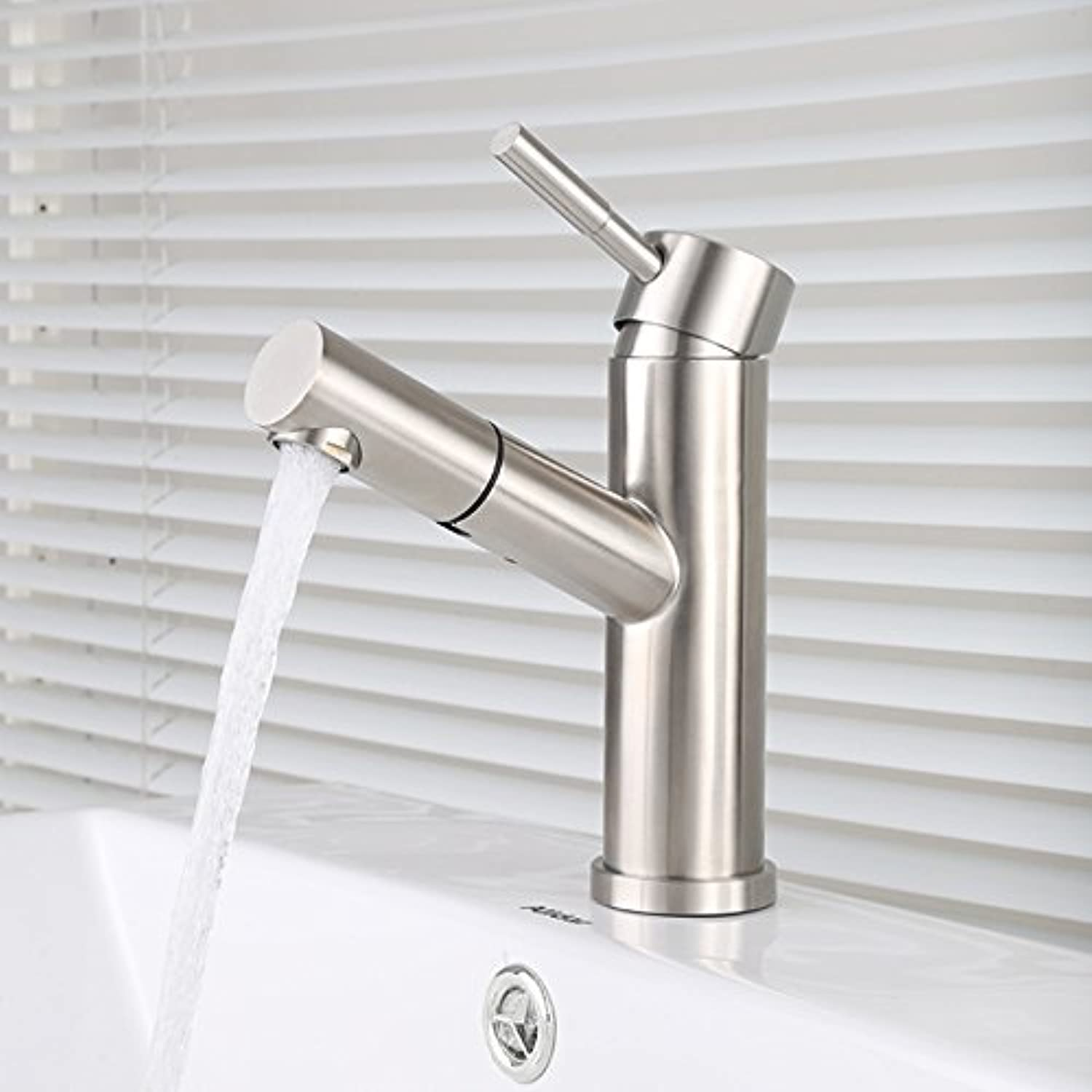 FREST Stainless steel faucet washbasin hot and cold pull faucet, A