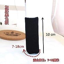 KYK 4Pcs Fabric feet Chair Leg Table Foot Tips Covers Floor Protectors Floral Kint doorknob Chair Cover Sock (Color : Black)