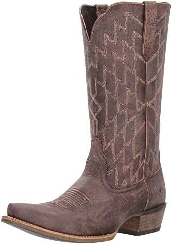Ariat Women s Heritage Southwestern X Toe Work Boot Tack Room Chocolate 11 B US product image