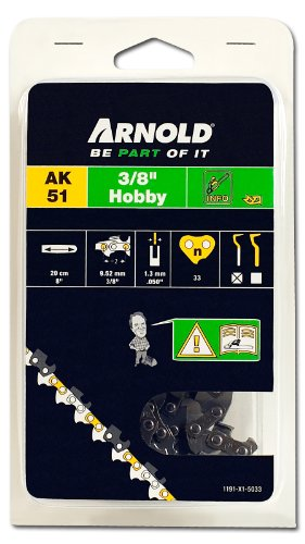 Arnold Sägekette 3/8 Zoll Hobby, 1.3 mm, 33 Treibglieder, 20 cm Schwert 1191-X1-5033