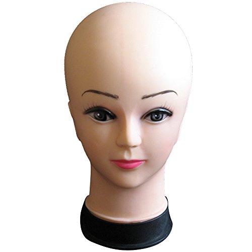 Vococal® Tête de Mannequin pour Perruque Chapeaux Afficher,PVC