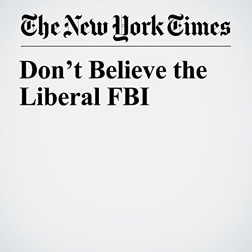 Don't Believe the Liberal FBI copertina