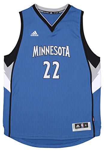 adidas Minnesota Timberwolves Andrew Wiggins #22 NBA Big Boys Youth Swingman Road Jersey, Blue X-Large 18-20