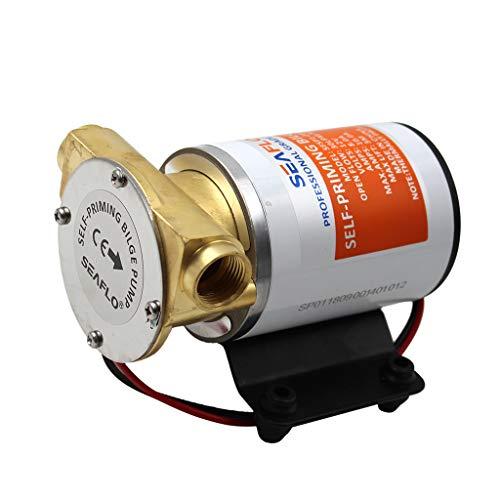 Sharplace 12V 8 GPM 30 LPM Bomba de Achique Centrífuga de Cebado Automático Autocebante