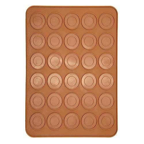 Moule de cuisson Macaron en silicone de 30 trous, tapis de cuisson réutilisable et antiadhésif pour macarons, pâtisserie, gâteau