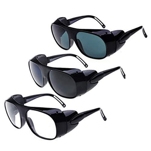 MZY1188 Occhiali di Saldatura protettivi Anti-Impatto Trasparenti 2 Pezzi, Occhiali di Sicurezza per Saldatura di Fabbrica Occhiali da Equitazione Occhiali di Sicurezza Anti-Impatto per Gli Occhi