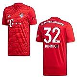 adidas Bayern Trikot Home Kinder 2020 - KIMMICH 32, Größe:140
