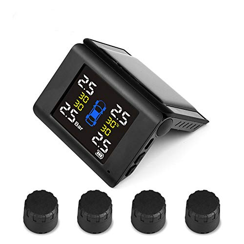 Dogggy TPMS Solar Power Universal Folding Wireless Reifendruckkontrollsystem 4 DIY Externen Sensoren Temperatur Druck LCD-Display Echtzeit-Alarm-Funktion