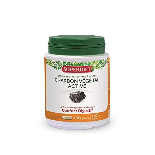 SuperDiet Charbon Végétal Activé 150 gélules