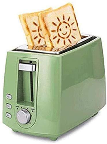 Broodmachines, Broodrooster Thuis klein ontbijt Machine Volautomatische Broodrooster 2 sneetjes geroosterd brood Multifunctionele slaapzaal Low Power Test ZHW345