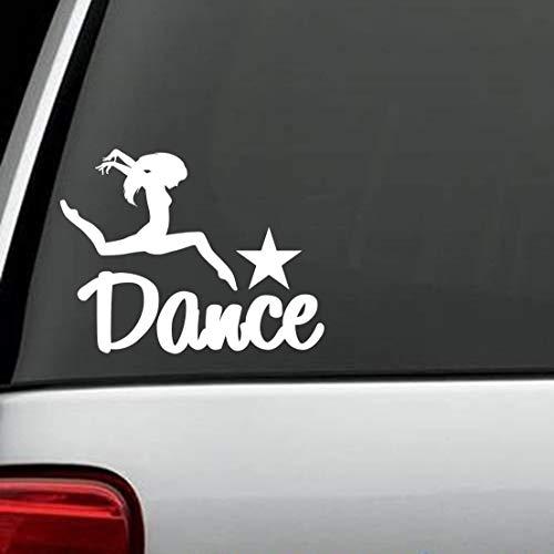 myrockshirt Schriftzug Dance mit Tänzerin & Stern Aufkleber,Sticker,Decal,Autoaufkleber,UV&Waschanlagenfest,Profi-Qualität