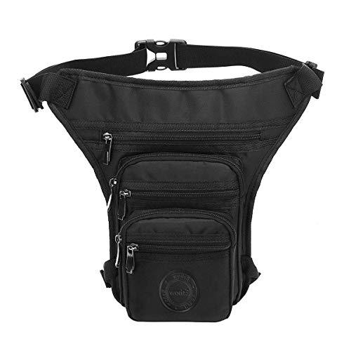 Eshow Beintasche Motorrad Oberschenkeltasche Hüfttasche mit großer Kapazität für Damen und Herren zum Outdoorsport Radfahrren Wandern schwarz