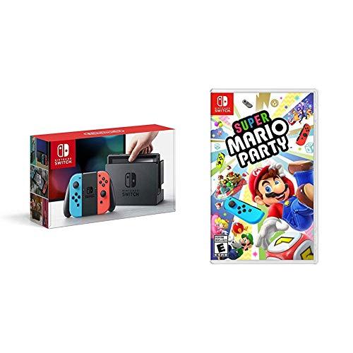 Nintendo Switch Neon + Super Mario Party - Super Mario Party Bundle...
