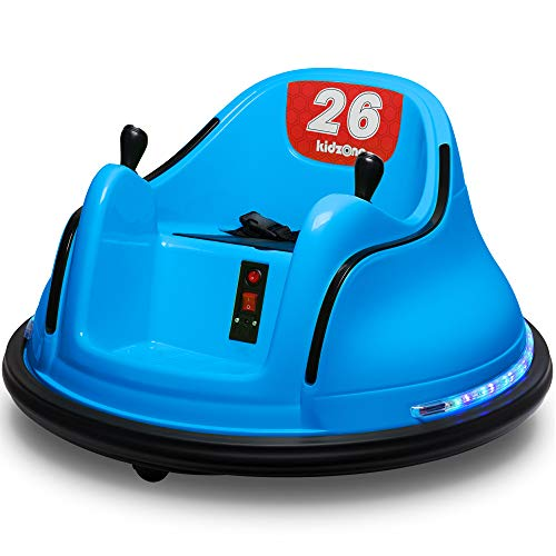 Kidzone DIY Race #00 6V Kids Toy Electric Ride On Bumper Car Vehicle Remote Control 360 Spin ASTM-Certified, Blue