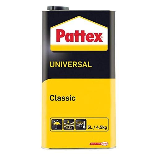PATTEX Universal Classic Kontaktkleber Kraftkleber Schuhkleber Montagekleber Alleskleber 5 L Hohe Scherfestigkeit HPL Platten Kork Akustikplatten All Materials