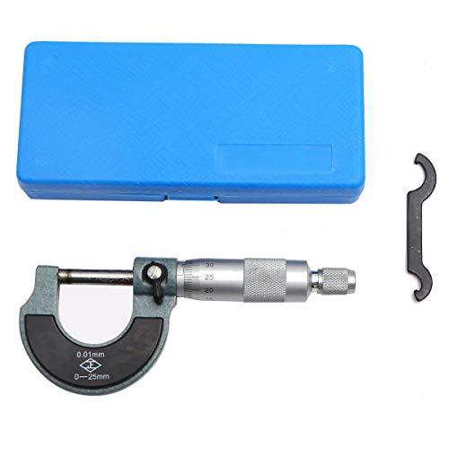 TOPWAY Micrómetro exterior de alta calidad 0-25 mm (precisión)