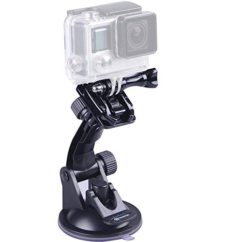 Smatree Suction Cup Mount Compatible for GoPro MAX / GoPro Hero 9/8/7/6/5/4/3+/3/Session/GOPRO HERO 2018/DJI OSMO Action Camera