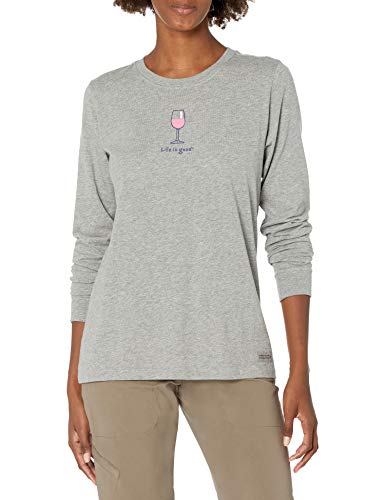Life is Good Womens Crusher, Heather Gray, X-Large