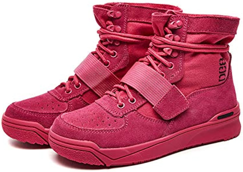 HOESCZS Frauen Schuhe Mode Leder Leder Leder Frauen Stiefel Herbst Vier Farbe Spitze Komfortable Retro Martin Stiefel Frauen  0fa0f8