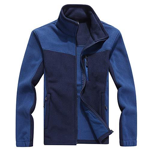llzshoutao Blouson Chauffant Homme Polaire Homme Automne Et Hiver Épaississement Extérieur Coupe Grande Taille Lâche Polaire Homme Bleu Marin