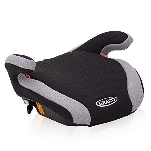 Graco Connext Auto-Kindersitzerhöhung, Autositz ab 6 bis 12 Jahren (22-36 kg), Booster Kindersitz Gruppe 3, Autokindersitz ohne Rückenlehne, mit IsoCatch-Konnektoren, Bezug waschbar, Black