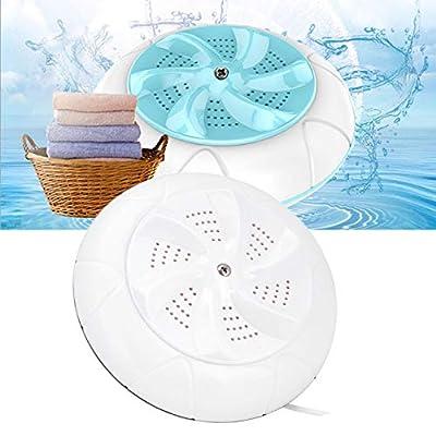 Duokon Mini Portable Turbo Automatic Electric Washing Machine Washer Laundry Household Small Ultrasound Turbo Travel(White)