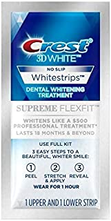 Crest 3D White Supreme Flexfit Whitestrip Dental Teeth Whitening Strips Deliver whitening results as effective as a 500 US...