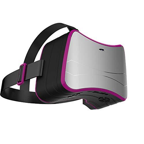 YUHUANG Lunettes intelligentes VR, transportant des Types de Divertissement Audio et vidéo en réalité virtuelle Lunettes 3D intelligentes de théâtre - Gris argenté