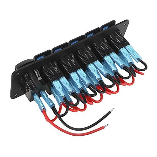 JIAQING 5 Panel de interruptores de rockero de la pandilla 4.2A Combinación de Salida a Prueba de Agua Dual USB Puerto de Voltaje Digital Ajuste para camión de Coche Marino (Color : Blue)