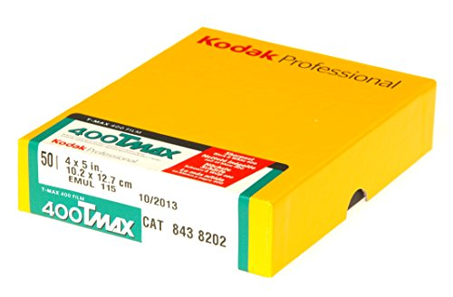 Kodak T-Max 400 10,2 (4 Zoll) x 12,7 cm (5 Zoll) Schwarz-/Weiß Negativ-Filme (50 Blatt)