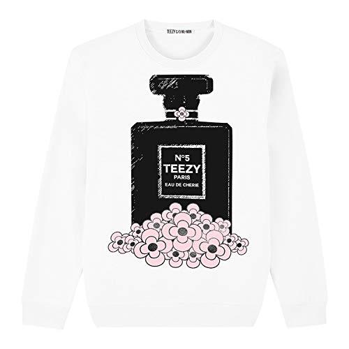 Nil&Mon TZ Flacon - Sudadera para mujer (talla XL), color blanco