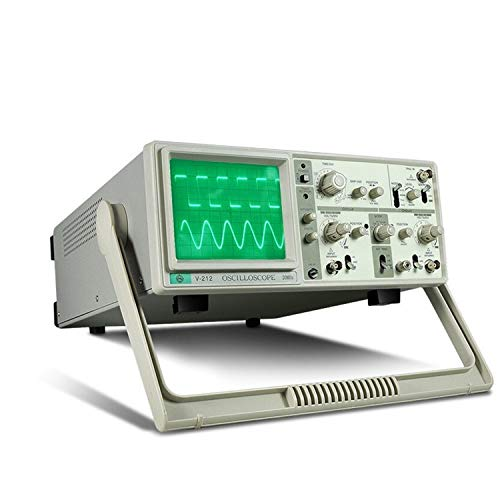 HEQIE-YONGP Medidor de la Ciencia MCH V-212 Osciloscopio analógico de Doble traza 20MHz 6 Pulgadas Pantalla Grande Canales duales Instrumento (Size : 220V) (Electrónica)