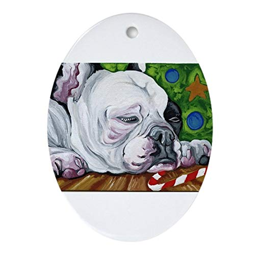 Christmas Tree Ornament, Frenchie Christmas Ornament (Oval) Merry Christrmas Trees Hanging Ornaments Traditional Xmas Tree Ornament in USA