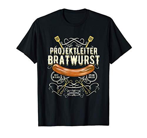 Grill Design Projektleiter Bratwurst | das Original Grill T-Shirt