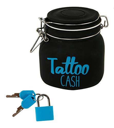 Spaarpot Tattoo Cash - spaarpot met slot - spaarvarken cadeau-idee tatoeage