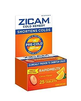 Zicam Cold Remedy Citrus RapidMelts 25 Quick Dissolve Tablets
