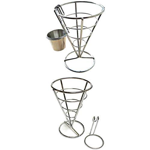 JKLBNM Französisch Fry Inhaber Stehen Durable Chip Stand Halter Snacks Französisch Fry Fries Display Rack Fries Baskets Küche Accesssories